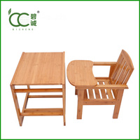 China Manufacturer Restaurant Infant Feeding Eco-Friendly Bamboo High Chair for Baby