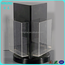 2015 Hot sale Rotating 3 side acrylic brochure holders and displayers