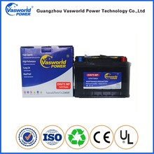 DIN standard 12v 75ah maintenance free mf car auto battery