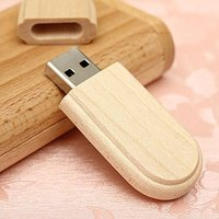 Custom low cost wood usb flash drive with wooden box