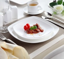 Wholesale Eco-friendly high quality Restaurant white plate dinnerware dinner plate porcelain