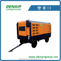 Diesel mobile screw air compressor aimed in -40 degrees Celsius
