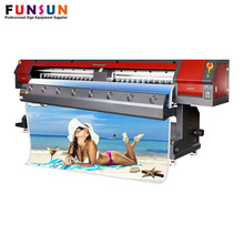 HOT SELLING ! Funsunjet FS-3202M 3.2m 1440dpi DX5/7 head 10ft large format eco solvent printer