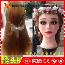 synthetic andanimal hair mixed mannequin head hairdresser mannequin head mannequin head for hat