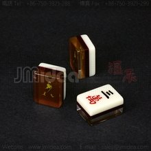 1c LOGO mini Mahjong 24*17.5*13mm For Anti cheat Puzzle Game set Teaching supplies Gambling Toy Table Games Accessories