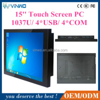 Industrial LCD Monitor With Screen USB / Panel PC Type Touch Industrial PC