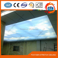 Vivid blue sky and pure white clouds pvc stretch ceiling film 1.5 - 5.0 meters width for advertising display