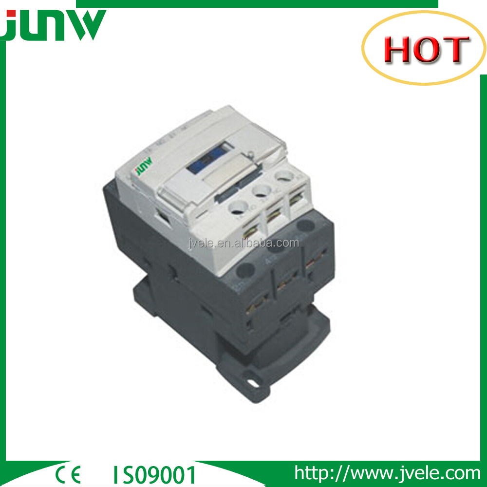 Types of 3 phase 3 pole 48v 220v 65a ac3 ac4 duty contactors with CE