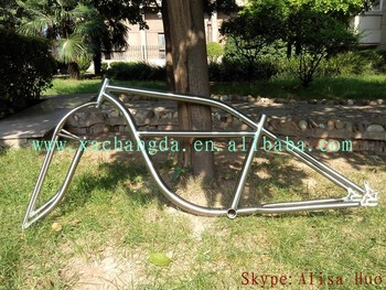 2016 new design!! titanium cruiser bike frame titanium e-bike frame customize