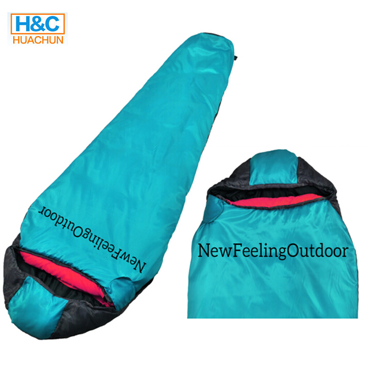 Adult Outdoor Camping Duck Down Sleeping Bag With Waterpoof Ripstop Fabric