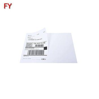Half sheet self adhesive laser usps shipping label