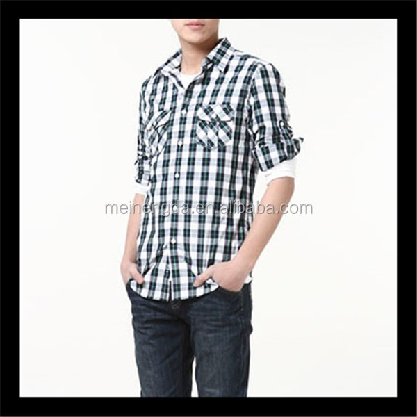 top selling 2014 new trendy products fancy men's plaid matching dress shirts pants