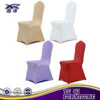 polyester stretch elastic chair seat cover for banquet