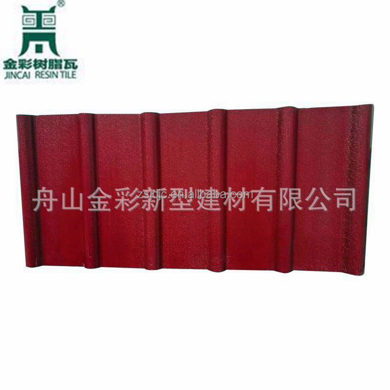 Plain Roof Tiles Type and Synthetic Resin Material PVC Roofing Tiles