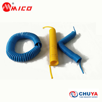 PU spiral coiled tube for pneumatic air tools machines