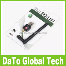 Free DHL 100pcs/lot 802.11n g b 150Mbps MT760 Mini USB WiFi Adapter with 2dBi Antenna