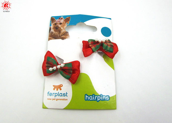 Cute Dog Decorative Fabric Ribbon Hair Clips Pretty Hair Accessories,pet hair pin