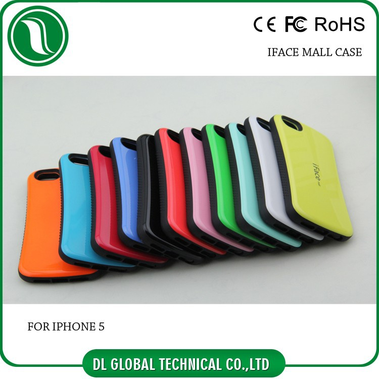 Mobile Phone TPU PC Mobile Iface cases covers for iPhone 5 5s 5c