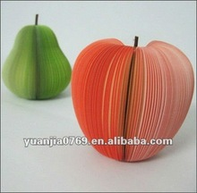 2012 apple & pear shape sticky memo cubic