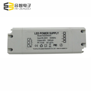 no flicker isolated contant current 24W 40W high power 1.8a led street light driver