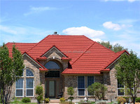 Shingles Tile Colorful Stone Coated Steel Roofing Tiles stone roof tile