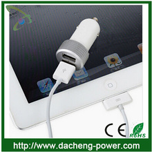 5V 3.1A dual Usb car charger for Macbook pro Iphone/Tablet/Ipad/Samsung