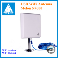 Ralink 3070 wifi usb adapter outdoor panel antenna 36dBi Melon N4000