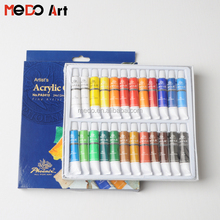 Hot selling quality 24 colors artists level acrylic paint set