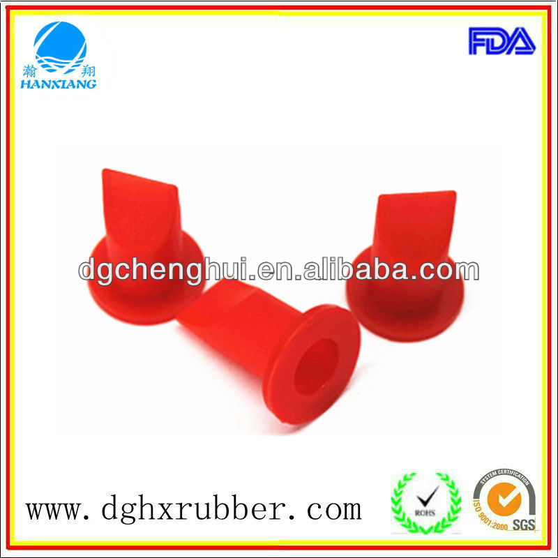 High temperature resistance High Quality Waterproof rubber plug/ duckbill silicone valve/medical rubber stopper