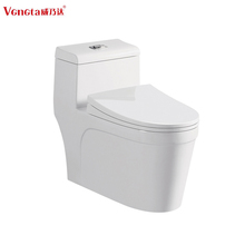 elongated siphonic porcelain sanitary ware one piece toilet China wc toilet ceramic