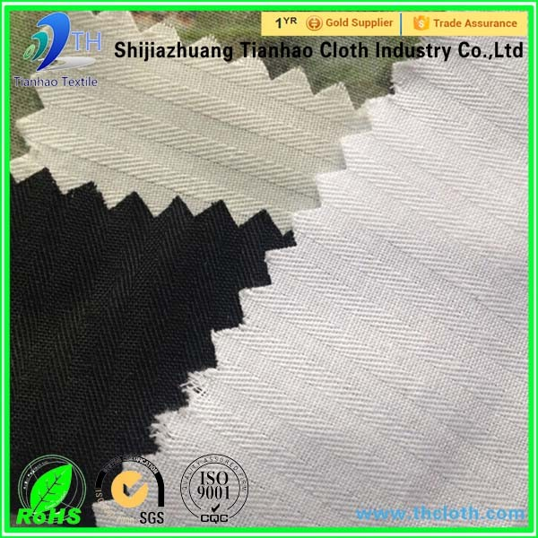 The fabric production base 100% cotton herringbone twill fabric