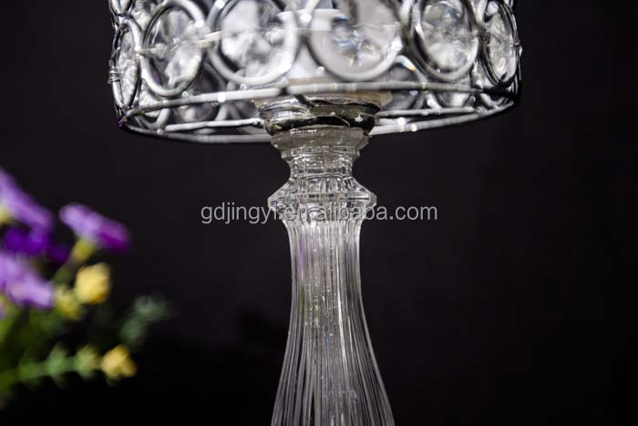 led candle with transparent beads iron for wedding birdcage