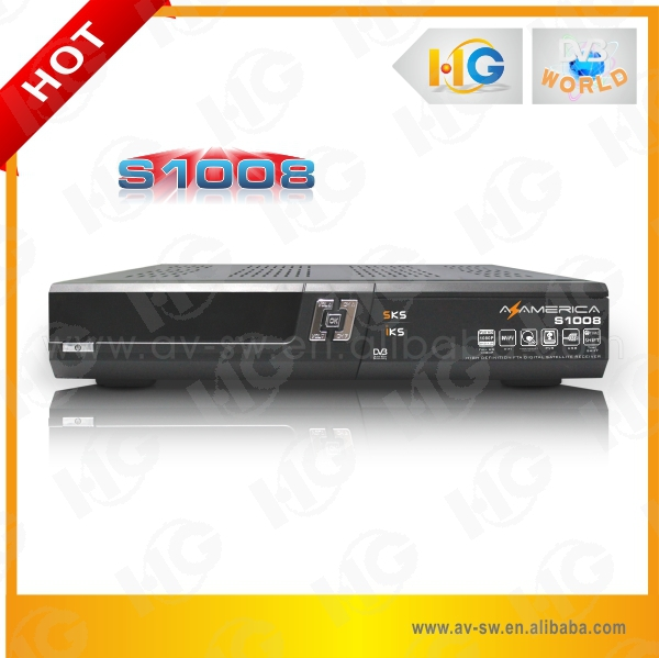 Factory original twin tuner azamerica s1008 satellite tv receiver better than azamerica receptor azamerica s1001