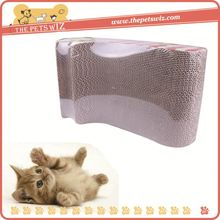 New hot selling products pet cat scratcher post ,p0wey white clolor wooden cat tree and top bed