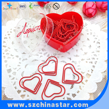 mini special heart paper clip PET coated iron wire