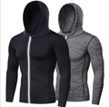 workout clothing quick dry dri fit gym wear sports zipper fitness shirt men