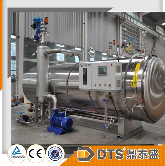ASME certificated computer automatic water spray retort glass bottle sterilization