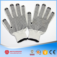 High Quality 10 Gauge Cotton Gloves With PVC Dots,Cotton Knitted Gloves