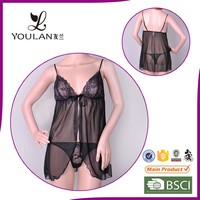 sexy open quick dry transparent factory in China children lingerie