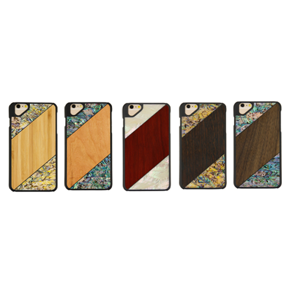 Wood splice shells phone case natural wood back covers protective wooden case for iPhone 6 6s Plus