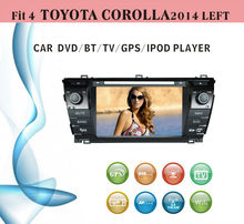 8 inch car dvd gps navigation fit for Toyota Corolla left hand drive 2014 with radio bluetooth gps tv