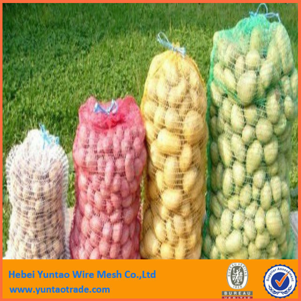 strong quality bright shine color cheap price net potato onion mesh package pe tubular fruit mesh bag