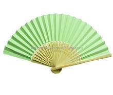 Factory price low price Custom made hand held fans paper folding fan for holiday gifts