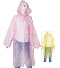 eco-friendly women EVA pink raincoat
