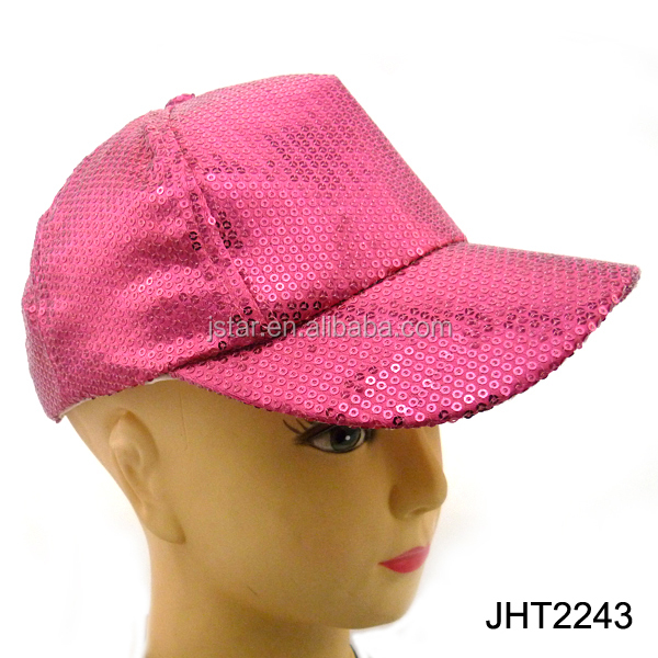 2013 fashion wholesale stock sequin baseball hat for children