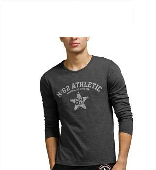 2013 new design fashion mens cotton tight fit long sleeve t-shirt