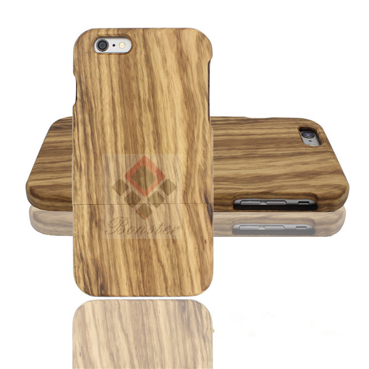 2016 Newest Design Phone Case Wood for iPhone, Kevlar Zebra Wood Phone Case, Ultra Slim for iPhone 7