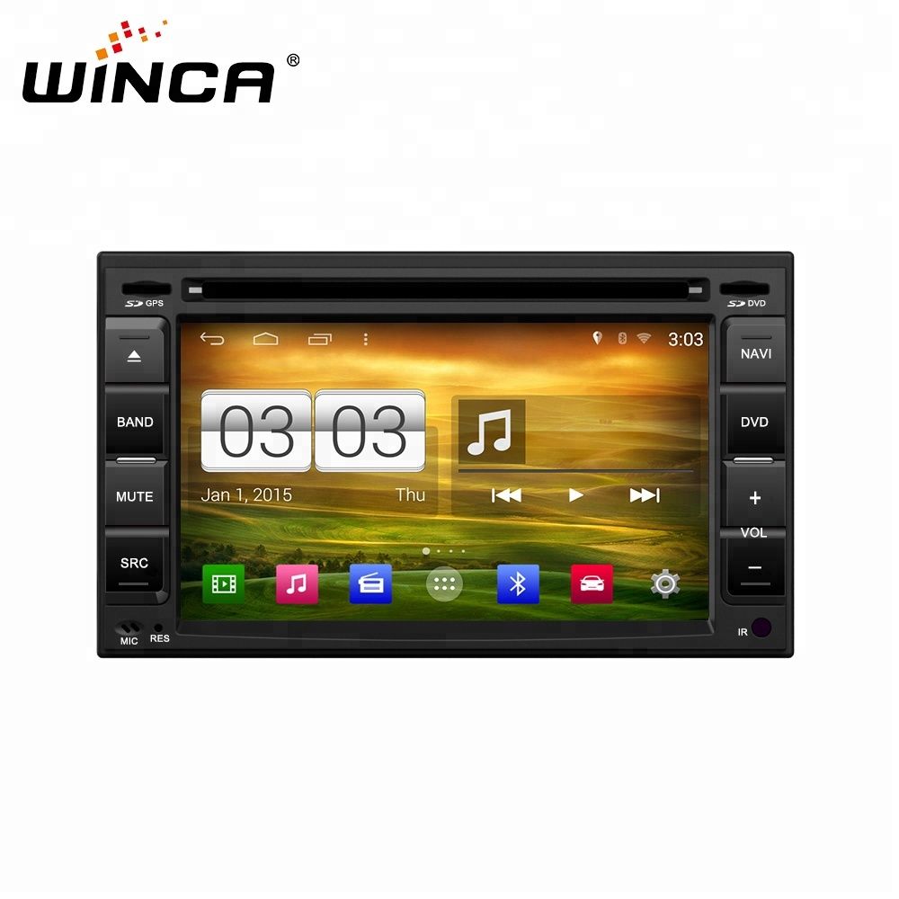 6.2 inch one din universal dvd car navigation player with windows ce solution