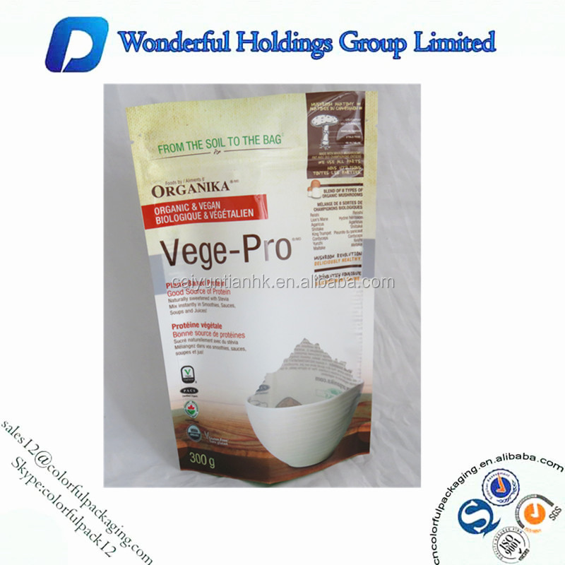 Matte and shiny stand up coconut oil packaging plastic bag with window and zipper