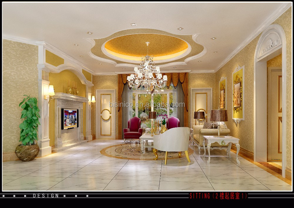 European Style 3D Rendering for Luxurious Villa With Complete Furniture